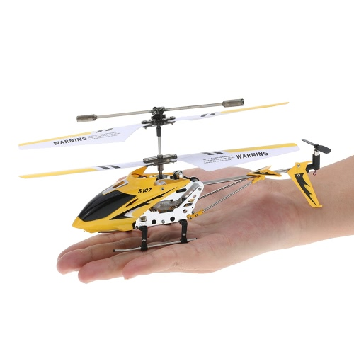 Syma S107G Mini  3 Canaux Infrarouge RC Hélicoptère avec Gyroscope Double Protection Jaune