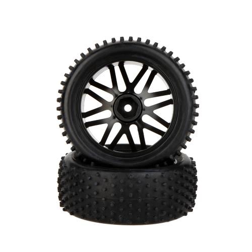 Rimorchio pneumatico posteriore e pneumatico 66041 di GoolRC 2Pcs ad alte prestazioni 1/10 per Car Traxxas HSP Tamiya RC