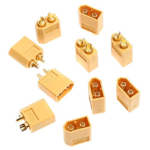 GoolRC 10 paires XT60 Connecteurs de Balle féminin/masculin pour Batterie RC