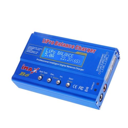 IMAX B6 80W multi-funções profissionais inteligentes 1-6 Células XT60 LiPo Battery Digital Balance Charger
