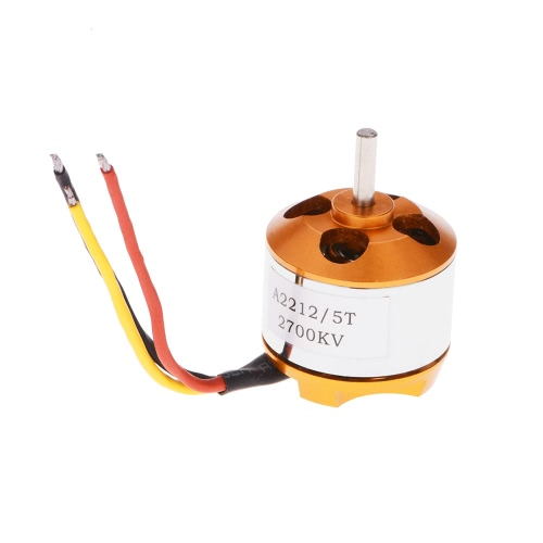 A2212/5T 2700KV Brushless Outrunner Motor with Mount for Aircraft Airplane Brushless Motor