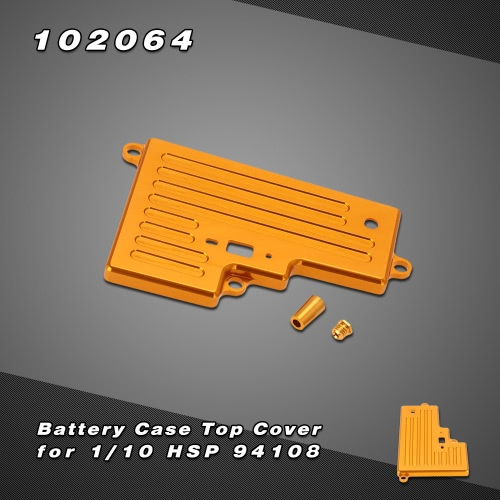 102064 Upgrade Part Aluminum Battery Case Top Cover for 1/10 HSP 94108 Nitro Off-road Truck