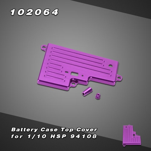 102064 Upgrade Parts Aluminum Battery Case Top Cover for 1/10 HSP 94108 Nitro Off-road Truck
