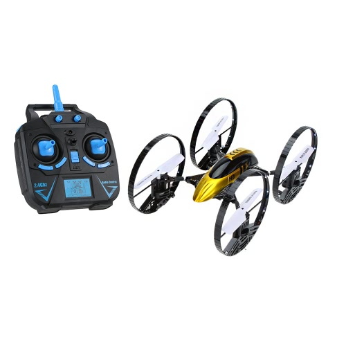 JJRC H3 2.4G 4CH 6-Axis Gyro Air-ground Amphibious 4-Wheeled 2 in 1 RC Quadcopter LED Lights RTF Drone with HD 2.0MP Camera