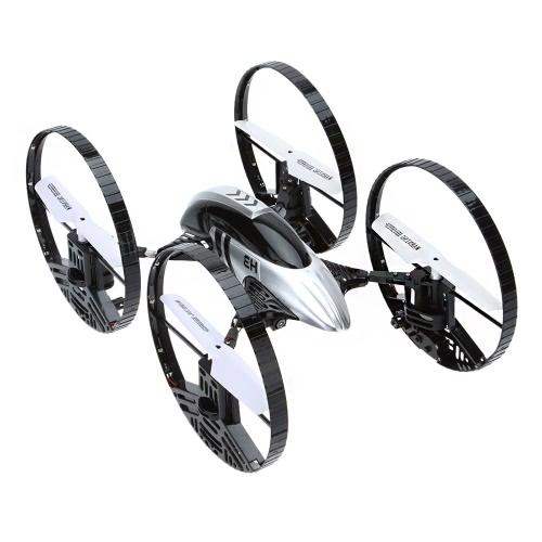 JJR / C H3 2.4G 4CH 6-assi Gyro Air-ground Anfibio a 4 ruote 2 in 1 RC Quad-copter LED Luci RTF Drone con HD 2.0MP fotocamera