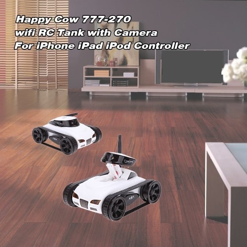 New wifi Mini i-spy RC Tank Car RC Camera Cars Happy Cow 777-270 with 30W Pixels Camera for iPhone iPad iPod Controller