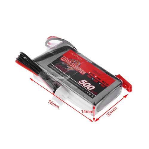 Wild Scorpion 11.1V 500mAh 25C MAX 35C 3S JST Plug Li-po Battery for RC Car Airplane Blade CX Helicopter Part