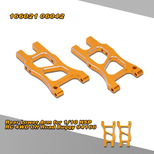 166021(06042) Upgrade Parts Aluminum Rear Lower Arm for 1/10 HSP RC 4WD Off Road Buggy 94166