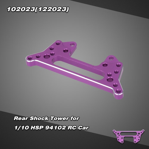 102023(122023) Upgrade Parts Aluminum Alloy Rear Shock Tower for 1/10 HSP 94102 Nitro Powered On-road Touring Car