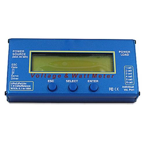 Digital 60V 100A Balance Voltage Power Analyzer Watt Meter Balancer RC Charger