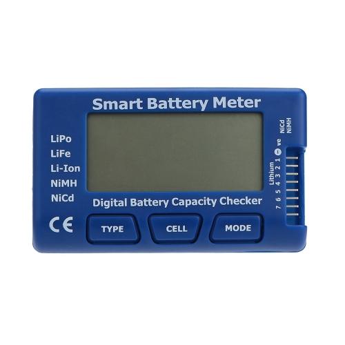 Verificador de capacidade de bateria Digital inteligente para LiPo LiFe NiMH NiCd de Li-ion bateria
