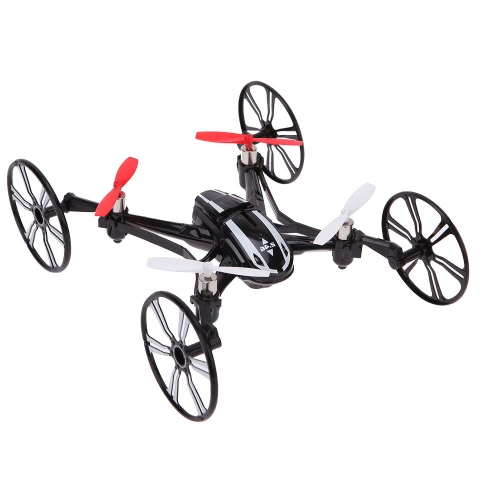 LianSheng LS-116 2.4G 4CH 6-Axis Gyro R/C Quadcopter 4 in 1 Air-ground Amphibious RTF Drone UFO with Speed Switch Mode Ground Mode Flip Mode Headless Mode