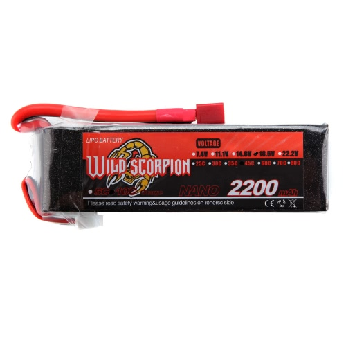 Wild Scorpion 18.5V 2200mAh 45C MAX 55C 5S T Plug Li-po Battery for RC Car Airplane Helicopter Part
