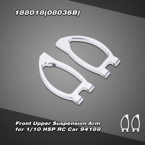 188018(08036B) Upgrade Parts Aluminum Alloy Front Upper Suspension Arm for 1/10 HSP RC Car 94188 Nitro Power Off-road Monster Truck