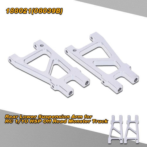 188021(08039B) Upgrade Parts Aluminum Rear Lower Suspension Arm for RC 1/10 HSP High Speed Off Road Monster Truck
