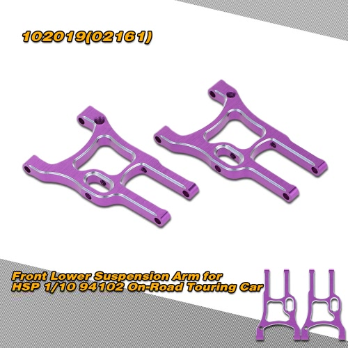 102019(02161) Upgrade Part Aluminum Front Lower Suspension Arm for HSP 1/10 94102 On-Road Touring Car