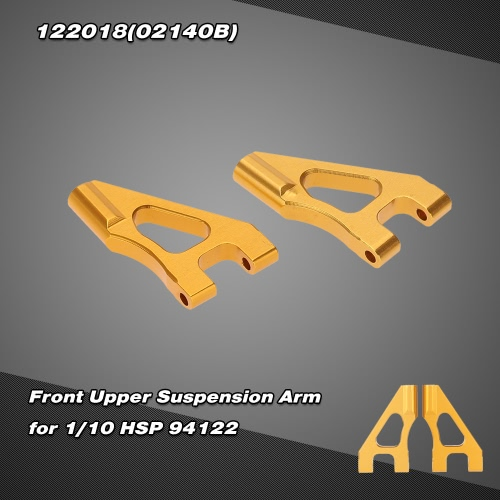 122018(02140B) Upgrade Parts Aluminum Front Upper Suspension Arm for 1/10 HSP RC 94122 On-road Racing Car