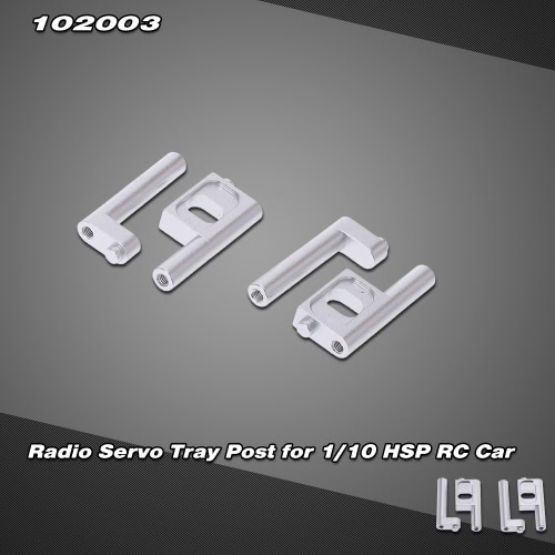 102003 Upgrade Parts Aluminum Alloy Radio Servo Tray Post for 1/10 HSP RC Nitro Monster Truck Buggy Car