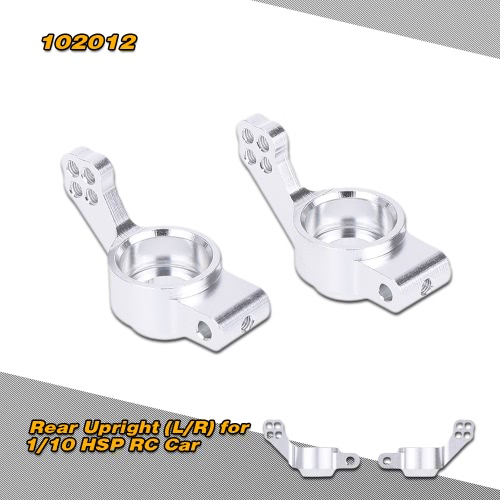 102012(02130) Upgrade Part Silver Aluminum Rear Upright (L/R) for 1/10 HSP RC Car