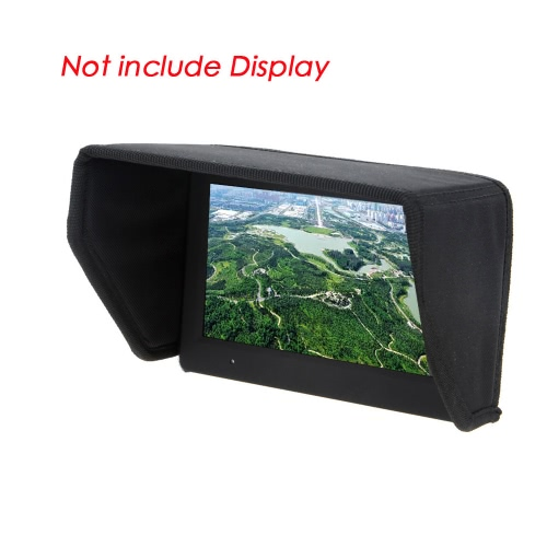 High Quality 7 inch FPV LCD Monitor Display Sun Shade Sun Hood for Helistar RX-LCD