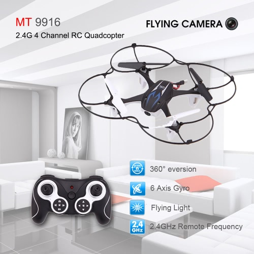 Original MT 9916 2.4G 4CH 6 Axis RTF RC Quadcopter 3D Drone Hovering 360 Degree Rotating UFO with 0.3MP Camera
