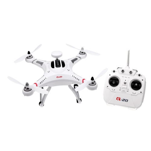 Cheerson CX-20 Auto-Pathfinder 2.4GHz 4CH 6-Axis гіраскоп RC Quadcopter з GPS і без галавы рэжым