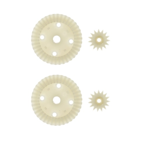 2 Sets Yikong Parts 18020 Plastic 38/15T Differential Gear for 1:18 Yikong RC Cars