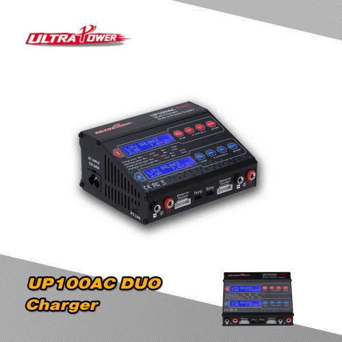 Ultra Power UP100AC DUO 100W LiIo/LiPo/LiFe/NiMH/NiCD Battery Multi Balance Charger/Discharger