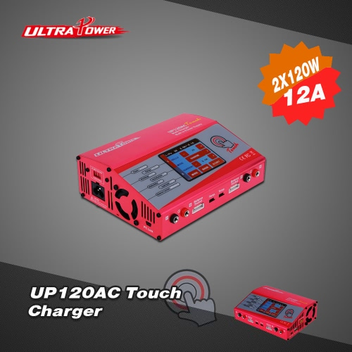 Ultra Power UP120AC Touch 2*120W LiIo/LiPo/LiFe/NiMH/NiCD Battery Touch Screen Charger/Discharger