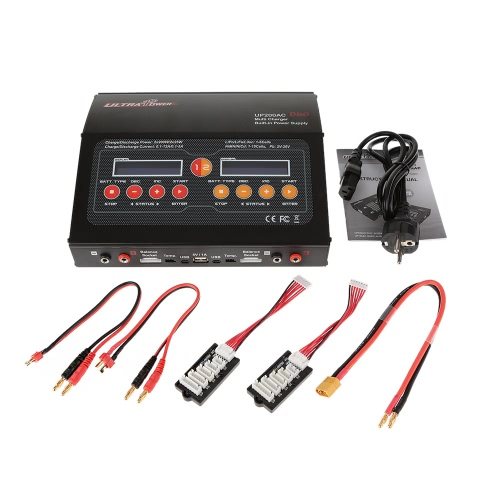Ultra Power UP200AC DUO 2*200W 400W LiIo/LiPo/LiFe/NiMH/NiCD Battery Multi Balance Charger/Discharger