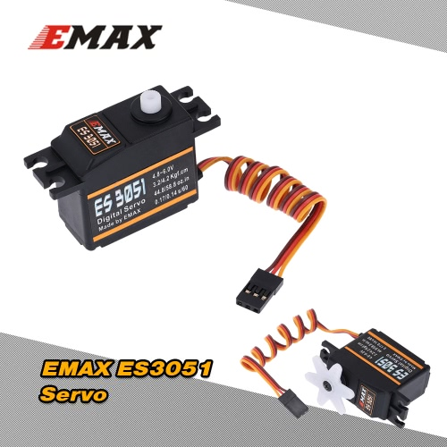 EMAX ES3051 Plastic Digital Bearing Servo for RC Helicopter Airplane