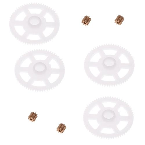 4pcs Original WLtoys V686G Part V686-11 V686-08 Roue dentée avec 4pcs Copper Gear Set pour JJRC / WLtoys V686G RC FPV Quadcopter