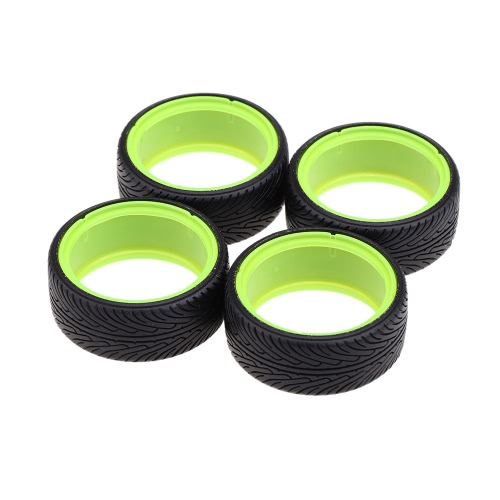 4Pcs/Set 1/10 Dual Layer Grain Drift Car Tires for Traxxas HSP Tamiya HPI Kyosho RC Car Part