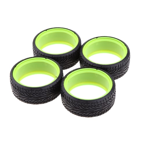 4Pcs/Set 1/10 Dual Layer Plastic Grain Drift Car Tires for Traxxas HSP Tamiya HPI Kyosho RC Car Part