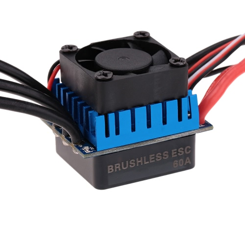 3650 3100KV/4P Sensorless Brushless Motor with 60A Brushless ESC(Electric Speed Controller)for 1/10 RC Car Truck RM3130