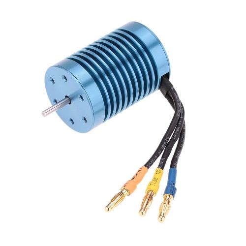 3650 4370KV 4P Sensorless Motor Brushless com 45A Brushless ESC (controlador de velocidade elétrico) para RC carro off-Road 1/10