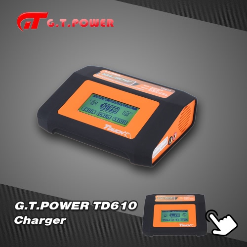 G.T.POWER TD610 80W LiPo LiFe Lion NiCd NiMh Battery Touch Screen Charger/Discharger
