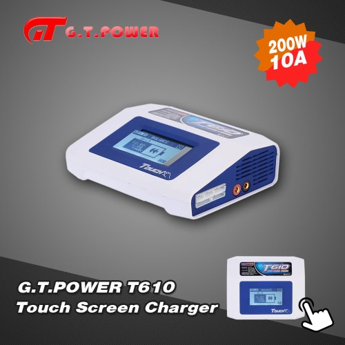 G.T.POWER T610 Touch Screen 200W LiPo LiFe Lion NiCd NiMh Battery Charger Discharger