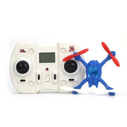 Mini 2.4G 4 canali 6AXIS Gyro Quad RC Copter elicottero 3D a rotazione LCD remoto controllo blu