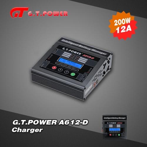 G.T.POWER A612-D 200W AC 220V LiIo/LiPo/LiFe/NiMH/NiCD Battery Balance Charger/Discharger