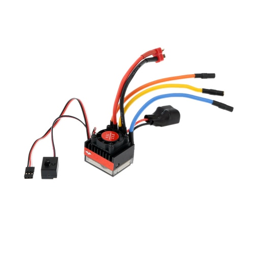 FVT Wolf 2-3s LiPo Battery 35A Pro A High Voltage Waterproof Car Brushless Car Electronic Speed Controller ESC avec Switch Mode 6V / 2A BEC pour 1/10 RC Racing Cars 1/16 RC Cars