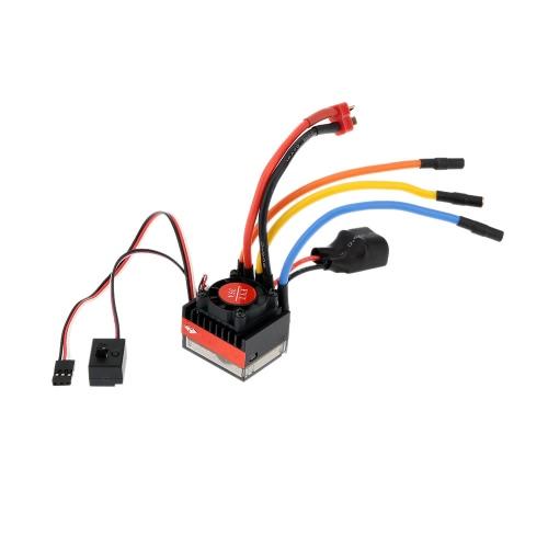 FVT Wolf 2-3s LiPo Batterie 35A Pro A Hochspannungs-wasserdichtes Auto Brushless Auto Elektronische Geschwindigkeitsregler ESC mit Schalter-Modus 6V / 2A BEC für 1/10 RC Rennwagen 1/16 RC Autos