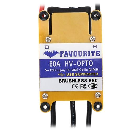 Beliebteste Sea Swallow 80A HV OPTO 5 ~ 12S Lipo 15 ~ 36S NiMh High Voltage bürstenlosen elektronischen Regler ESC mit USB Programmierpunkt für Flugzeug