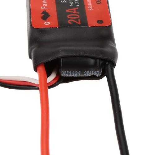 Ulubiony SKYI serii 20A 2 ~ 3S LiPo Prędkość Bateria bezszczotkowy elektroniczny kontroler ESC, 5V / 2A Tryb BEC dla RC stałej skrzydło samolotu