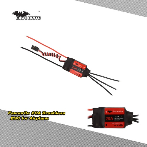 Favourite  SKYI series 20A 2~3S LiPo Battery Brushless Motor Electronic Speed Controller ESC with 5V/2A Linear Mode BEC for RC Fixed Wing Airplane