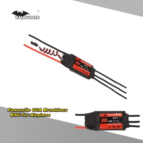 Favourite SKYI series 60A 2~6S LiPo Battery Brushless Motor Electronic Speed Controller ESC with 5V/5A Switch Mode SBEC for RC Fixed Wing Airplane