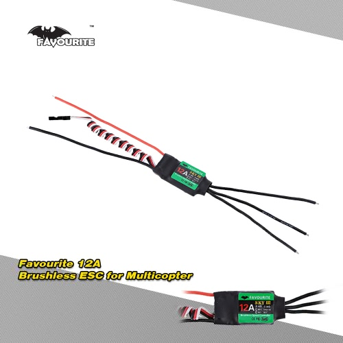 Favourite Eagle Series Sky 3 12A 2-3S LiPo Battery Brushless Motor Electronic Speed Controller ESC with BLHELI Program for DIY RC F250 Quadcopter Multicopter