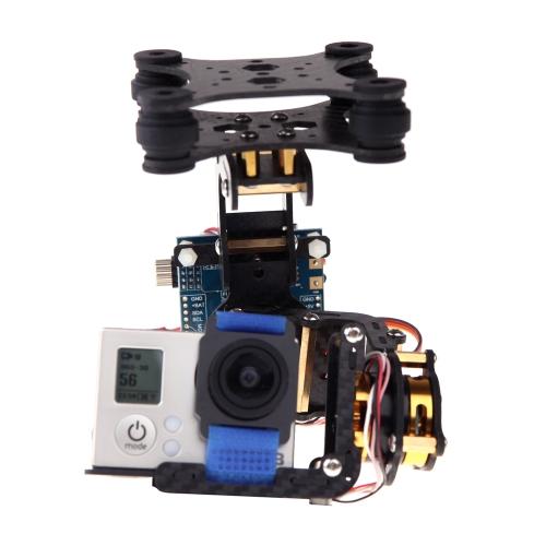 FPV GoPro Hero 3 2D 2-Axis Carbon Fiber Brushless Camera Gimbal z 2 silnikami i Controller Board PTZ za DJI Phantom F450 Qudcopter multirotor FPV kamery GoPro Hero przegubu (3 przegubu, DJI Phantom przegubu, 2D Brushless Camera Gimbal)