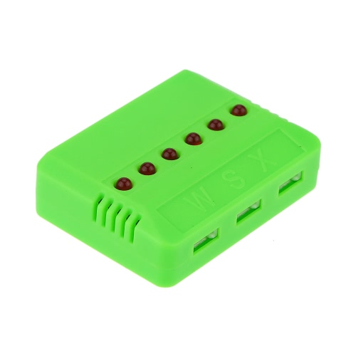 Super Fly 6-port Charger define X6A-A07 (-006) com 3.7V 450mAh Lipo Battery para helicóptero RC WLtoys V977 V930 JJRC H37 Quadcopter
