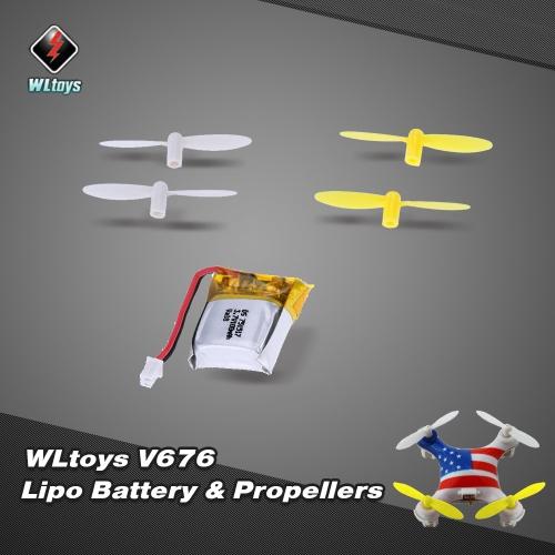 オリジナルWLtoys V646 RCパート3.7V100mAhリポ電池V646-05(VA18)プロペラ付きWLtoys V646 V676 Hubsan H111 Cheerson CX-10 CX-10A JJRC H1 H7 RCクワッドローター用